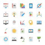 Art and Design Flat Icons vector illustration