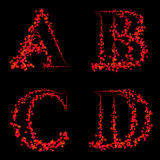 Art design fonts from maple leaf capital abcd Royalty Free Stock Photo