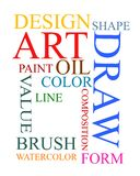 Art and design graphic text collage Stock Photos