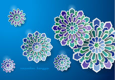 Art Design Greeting Vector Card islamique Photo stock
