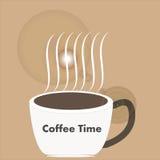 Art design hot coffee Stock Photography