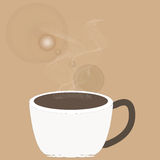 Art design hot coffee Royalty Free Stock Images