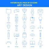 Art and Design Icons - Futuro Blue 25 Icon pack. This Vector EPS 10 illustration is best for print media, web design, application design user interface and royalty free illustration