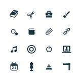 Art, design icons set Royalty Free Stock Photography