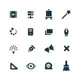 Art, design icons set Stock Image