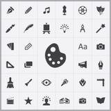 Art, design icons universal set Stock Photography