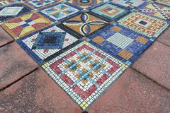 Colorful mosaic. Art Design The mosaic on floor Stock Images