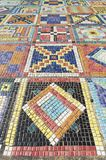Colorful mosaic. Art Design The mosaic on the wall surface Stock Photo