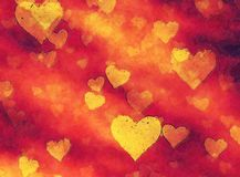 Art painted hearts background. Art design painted hearts background Stock Photos