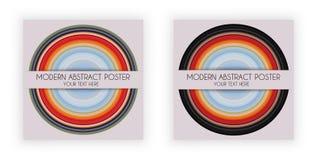Art Design Poster avec le symbole rond, plat de musique, a étiré des pixels effet, vecteur Image stock