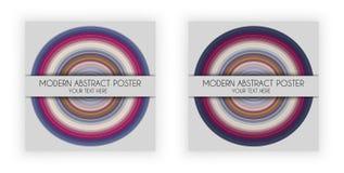 Art Design Poster avec le symbole rond, plat de musique, a étiré des pixels effet, vecteur Photos stock