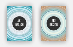 Art Design Poster, effet étiré de pixels, A4 format, vecteur Photos stock