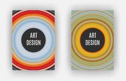 Art Design Poster, effet étiré de pixels, A4 format, vecteur Photographie stock libre de droits