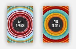 Art Design Poster, effet étiré de pixels, A4 format, vecteur Photo stock