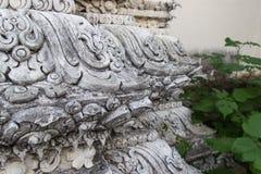 The art design sculpure of buddhist temple pillar Stock Images