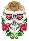 Art Sugar Skull Day of the dead. Royalty Free Stock Images