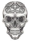 Art Sugar Skull Day of the dead. Royalty Free Stock Photos
