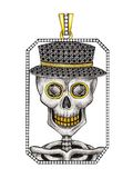 Jewelry Design Skull in frame Pendant. vector illustration