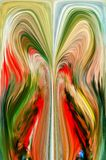 Digital abstraction. Abstract. Graphic. Abstraction. Art, design, splash, visualization, imagination, dynamic, fantasy, thought, thoughts, dream, dreams Stock Photography