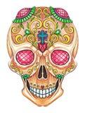 Art Sugar Skull Day of the dead. Art design sugar skull day of the dead. Hand pencil drawing on paper Royalty Free Stock Photos