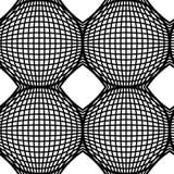Art Design Vector Seamless Pattern op in bianco e nero. Fotografia Stock Libera da Diritti