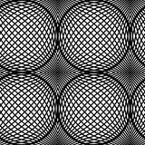 Art Design Vector Seamless Pattern op in bianco e nero. Immagine Stock