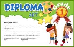 An art diploma certificate stock image