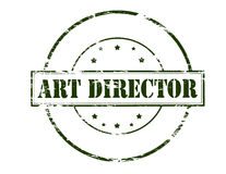 Art director. Rubber stamp with text art director inside, illustration royalty free illustration