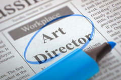 Art Director Wanted 3d Fotografia Stock Libera da Diritti