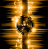 The Art of Disco Flyer - Stunning Speakers Royalty Free Stock Photo
