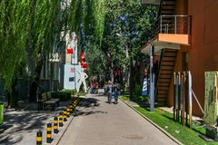 Beijing 798 Art Zone and Its Artistic Works in China. The 798 Art District is located in the Dashanzi area of Jiuxianqiao Street, Chaoyang District, Beijing royalty free stock image