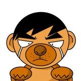 Art dog cry cartoon. Illustration Royalty Free Stock Image
