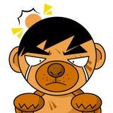 Art dog cry cartoon. Illustration Royalty Free Stock Photo