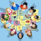 Art Doodles Creativity Concept preescolar stock de ilustración