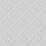 art Dot Line Cross Flower rond du livre blanc 3D Photos stock