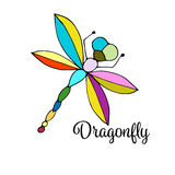 Art dragonfly, sketch for your design Stock Image