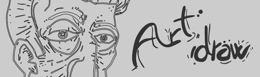 Art draw banner Stock Photography