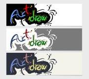 Art draw card Stock Photos