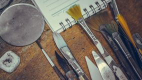 Art Drawing Brush Tool Set imagenes de archivo
