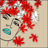 Art drawing girl Royalty Free Stock Image
