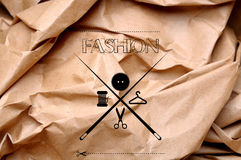 Art drawing logotip fashion or tailor Stock Images