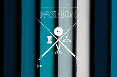 Art drawing logotip fashion or tailor Royalty Free Stock Image