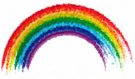 Art drawing rainbow abstract paint isolated background Stock Image