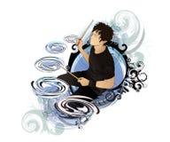 Art Drummer Royalty-vrije Stock Afbeelding