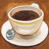 Art du boire de café Photos stock