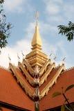 Art du Laos sur l'église de toit dans le temple du Laos. Image libre de droits