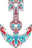 Art du nord-ouest de côte de Polonais de totem d'ancre Photo stock