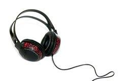 Art of earphones. Earphones with hand-made patterns Stock Illustration