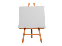 Art Easel. Isolated 3d Image of an Art Easel and blank Canvas Stock Photo