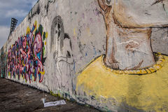 Art at East side of Berlin Wall, Berliner Mauer, Berlin. Germany Royalty Free Stock Photo